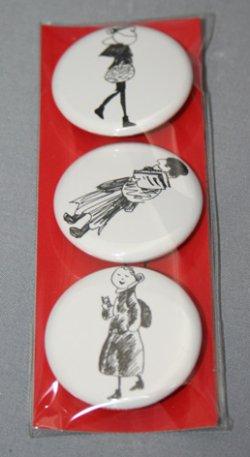 画像1: 古川タク・缶バッジ3個セット[CAFE BAR]